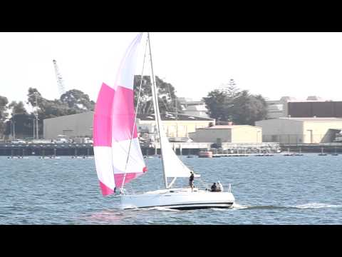 Beneteau First 30 Spinnaker Sailing in San Diego
