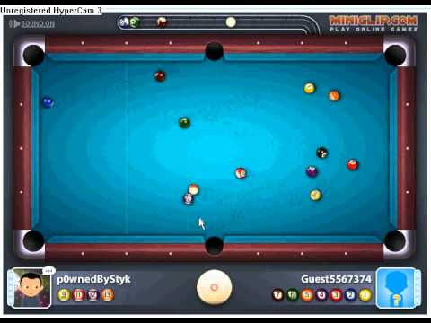 Ball pool multiplayer match 1 miniclip p0wnedbystyk vs guest