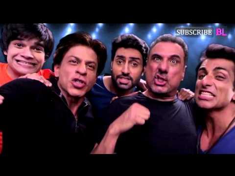 Shah Rukh Khan, Abhishek Bachchan, Sonu, Boman and Vivaan promote Happy New Year's Slam Tour