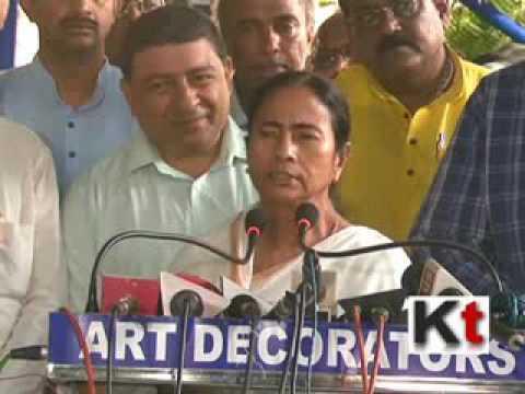 Mamata Banerjee addressing press after administrative meeting