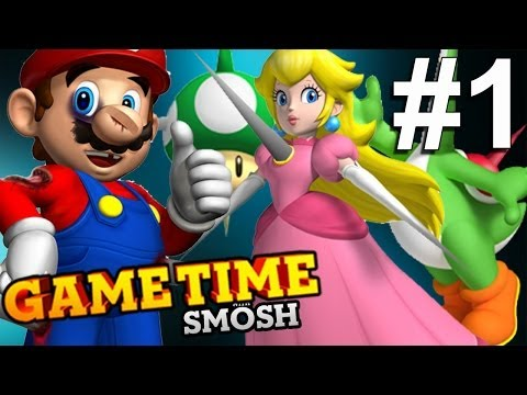 UNFAIR MARIO MAKES US RAGE! (Gametime w/Smosh)