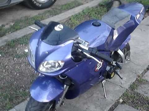 49cc Cateye Super Pocketbike Walkaround 2011