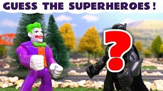 Superhero Challenge - Guessing Game with Joker Avengers Justice League and Ninja Turtles TT4U