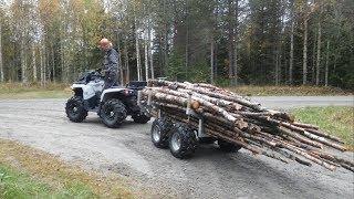 Firewood Logging   ATV Log Trailer