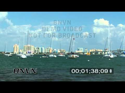 9/7/2007 Sarasota Sailboats B-Roll footage