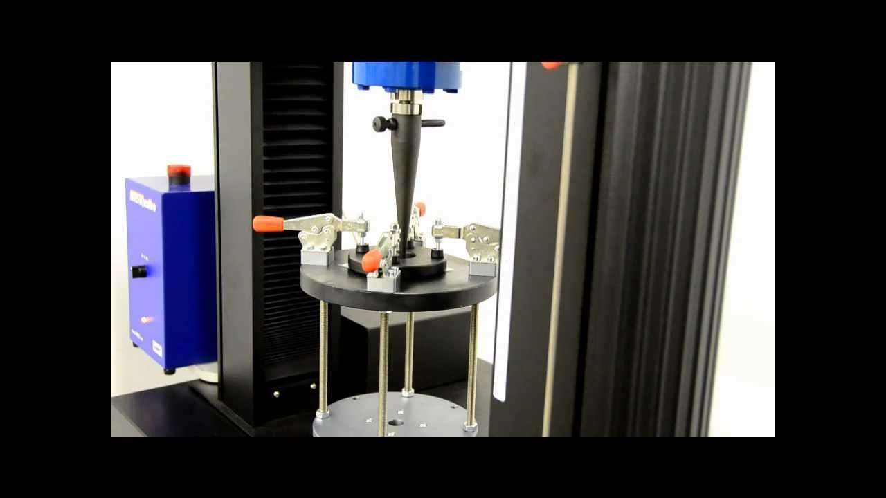 puncture resistance test on a universal testing machine
