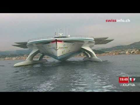 swiss solar boat on a world wide mission