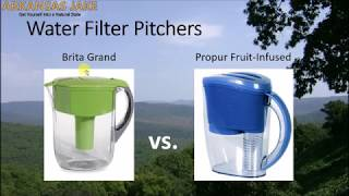 Brita vs. Propur Water Filter Pitcher | comparison with charts