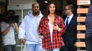 Kim Kardashian Gets Lunch With Kanye West And Kourtney Upon Return From Dubai