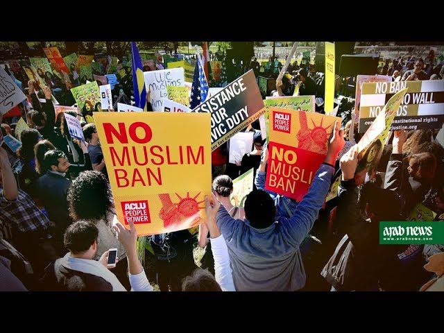 "Protestors gather in DC to say ""No Muslim Ban Ever"""