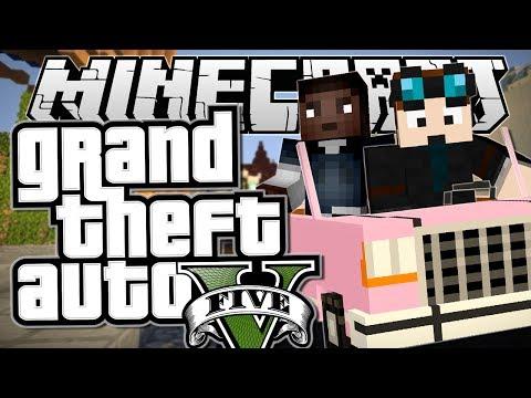 Minecraft | Grand Theft Auto (GTA) | INDESTRUCTIBLE PINK CAR! | Mods Showcase