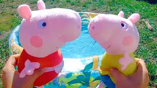 Peppa Pig bath time in the pool with George ❤️ Videos and toys for kids