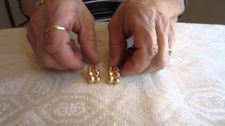 Vintage 14K Yellow Gold French Braid Clip-On Earrings -