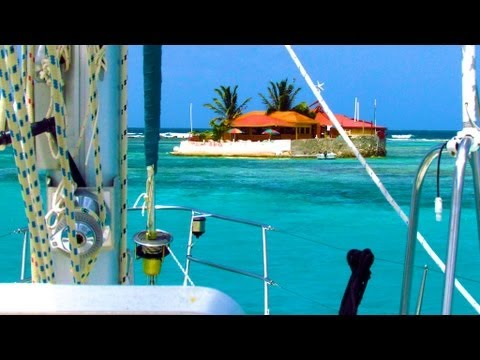 Sailing in the Grenadines - Happy Island, Caribbean