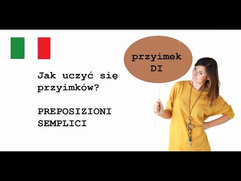 ItalYOLO Grammatica: Preposizioni Semplici. Przyimek DI