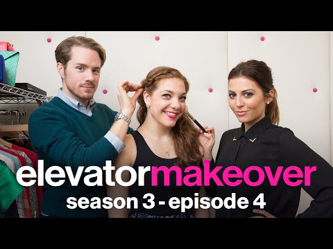 Taming Frizzy Red Hair & Looking Glamorous--Glamour's Elevator Makeover--How To Style Tips
