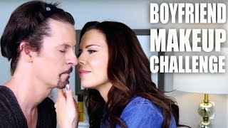 BOYFRIEND (Fiance) MAKEUP CHALLENGE - Tati & James