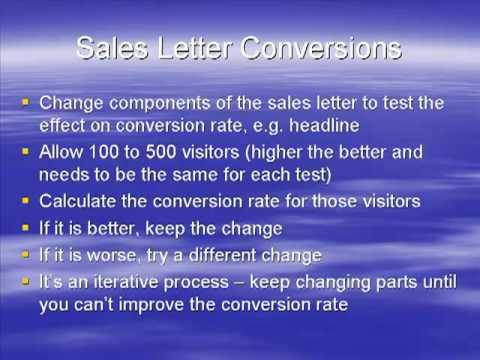 Sales Letter Conversions