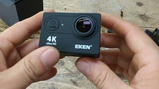 camera EKEN H9R v7.0 20MP  đập hộp và  quay thử video 1080p