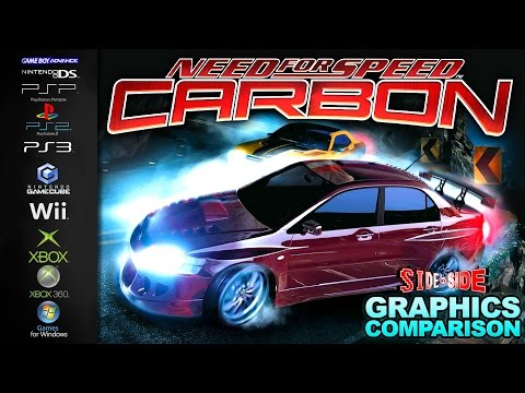 Need for Speed Carbon   Graphics Comparison   ( PS2. PS3. Xbox. 360. GC. Wii. PC. GBA. NDS. PSP )