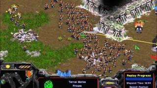 BWAPI SSCAI: 120 Marines Attack (Student StarCraft AI Tournament 2011)