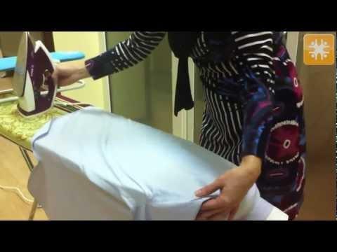 ¬идео как гладить рубашку