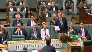 Kate Ellis in Question Time 18/3/14