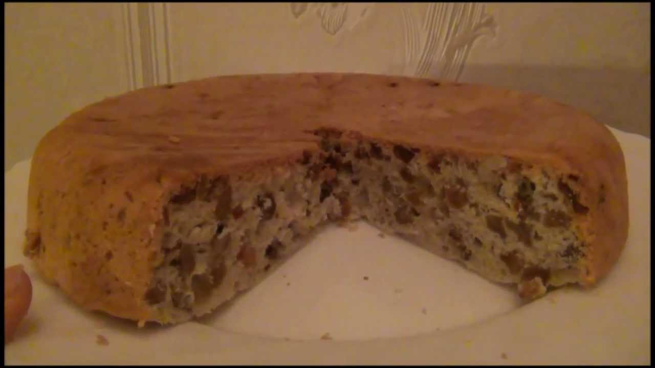 Кекс в мультиварке с изюмом и орехами рецепт