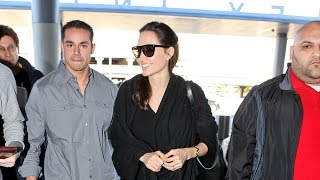 Angelina Jolie Is Confident Cool In All Black Through LAX