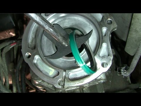 How to fix an oil leak between the transmission and transfer case, Dodge Ram