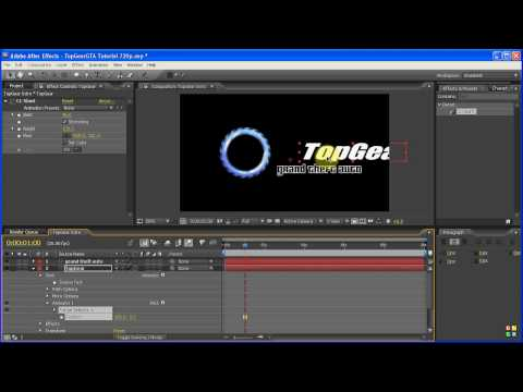 TopGear GTA IV - After Effects Tutorial (TopGear Intro) PART 2 of 3