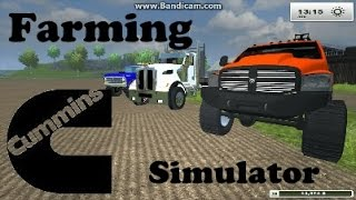 Farming Simulator Mods Dodge Cummins 2500 Lifted, Volvo Loader, Peterbilt 384 Landscape Body,Bigfoot