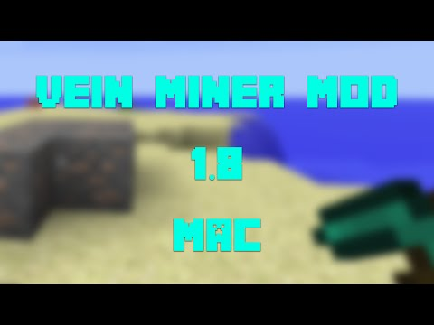 How to Install the Vein Miner Mod for Minecraft 1.8 [Mac]