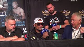 Eleider Alvarez & Dmitry Bivol Post Fight Press Conference Aug 4, 2018
