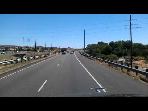 Driving through St George, Utah on Interstate 15 North