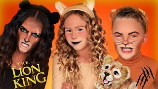 Disney The Lion King Simba, Nala, and Scar Dress Up! Lion King Family Saves Simba