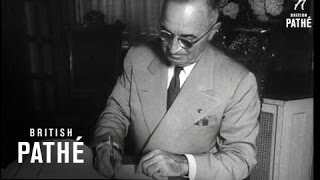 Truman Signs West Germany Peace Pact (1952)