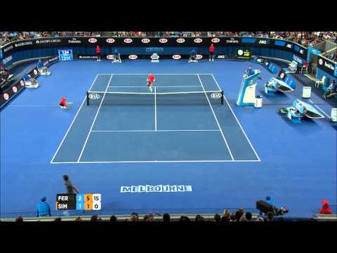 David Ferrer amazing hot shot - Australian Open 2015