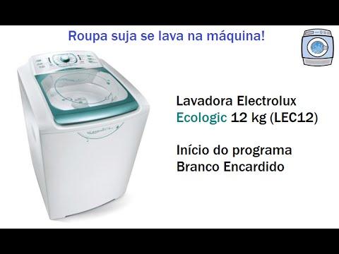 Lavadora Electrolux Ecologic 12kg (LEC12) - Início do programa Branco Encardido