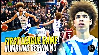 LaMelo & Gelo Ball HUMBLING First LEAGUE Game But Trust The Process! Melo DUNKING & Playing D!