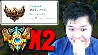 2 CHALLENGERS SPECTATE A BRONZE 5 WITH A 9% WIN RATE..? ft. KatEvolved
