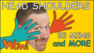 Head Shoulders + More | 25 Mins funny Collection for Kids | Body Parts from Steve and Maggie