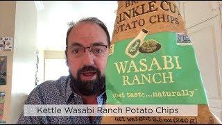 Kettle Brand Wasabi Ranch Potato Chips Review #potatochips #crisps #kettlebrand