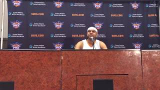 Jared Dudley Suns Media Day 09/26/16