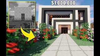 I Suprised A Noob With A Million Dollar Estate | Minecraft Flippers E8