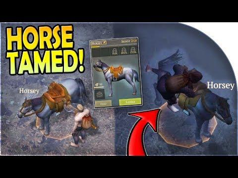 HORSE TAMED - HORSE RIDING + LEVELING UP - Grim Soul Dark Fantasy Survival Update 1.3 Gameplay