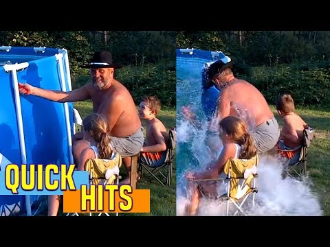How To Empty Swimming Pool Redneck Style | Afv video