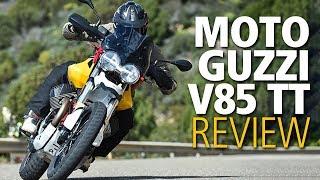 Moto Guzzi V85 TT adventure bike review   2019 launch road test