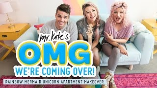 Jessie Paege's Rainbow Mermaid Unicorn Apartment Makeover! | Mr. Kate | OMG We