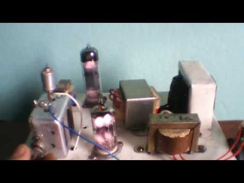 DIY Two tube Regenerative shortwave Receiver 12ax7  6bq5